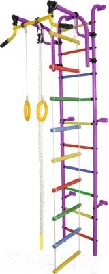 Детский спортивный комплекс Формула здоровья Аистенок-2А Плюс (фиолетовый/радуга)