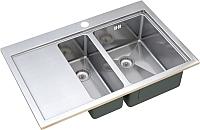 Мойка кухонная ZorG ZM R-7852-2 R -