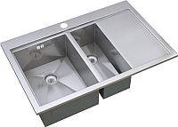 Мойка кухонная ZorG ZM X-7852-2 L -