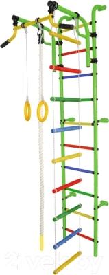 Детский спортивный комплекс Формула здоровья Аистенок-2А Плюс (салатовый/радуга)