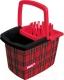 Ведро York Стайл Rattan прямоугольное с отжимом 15л (красный) -