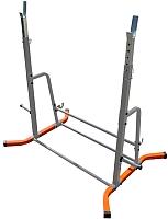 Подставка для штанги Формула здоровья Дельта-02 (оранжевый/серебристый) -
