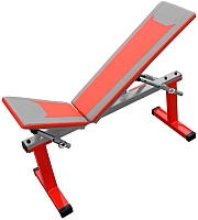 Скамья многофункциональная Формула здоровья Дельта-01 (красный/серебристый) -