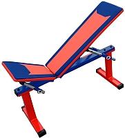 Скамья многофункциональная Формула здоровья Дельта-01 (красный/синий) -