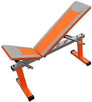 Скамья многофункциональная Формула здоровья Дельта-01 (оранжевый/серебристый) -