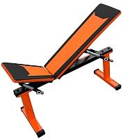 Скамья многофункциональная Формула здоровья Дельта-01 (оранжевый/черный) -