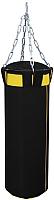 Боксерский мешок Русский бокс BM02-120x30 (черный/желтый) -