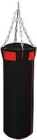 Боксерский мешок Русский бокс BM02-110x30 (черный/красный) -