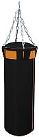 Боксерский мешок Русский бокс BM02-110x30 (черный/оранжевый) -