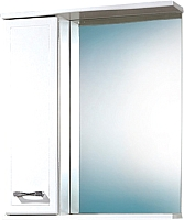 Шкаф с зеркалом для ванной Акваль Ника 60 (AN.04.60.00.L) -