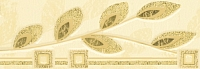Бордюр для ванной Березакерамика Береста идилия желтая (200x70) -