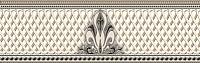 Бордюр для ванной Березакерамика Грация белая (300x95) -