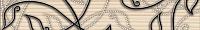 Бордюр для ванной Березакерамика Джаз бежевый (350x54) -