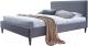 Двуспальная кровать Halmar Flexy 160x200 (пепельный) -