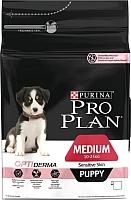 Корм для собак Pro Plan Puppy Medium Sensitive Skin с лососем и рисом (18кг) -
