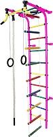 Детский спортивный комплекс Формула здоровья Забияка-2А Плюс (розовый/радуга) -