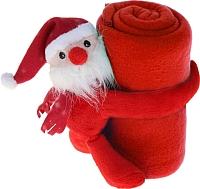 Плед Luazon Этелька Санта в колпачке 1034238 (красный) -