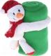 Плед Luazon Этелька Снеговик в колпачке 1034239 (зеленый) -