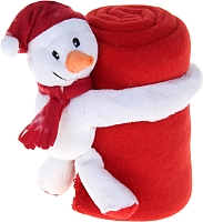 Плед Luazon Этелька Снеговик в колпачке 1034240 (красный) -