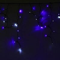 Светодиодная бахрома Luazon Бахрома 1080418 (2.4x0.6м, сине-белый) -