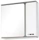 Шкаф с зеркалом для ванной Eva Gold Оливия 75 (Штрокс Олива) -