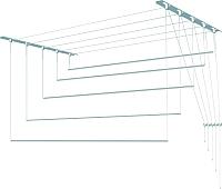 Сушилка для белья ПТФ Лиана С-006 (1.8м, голубой, пластик) -