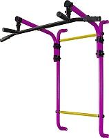 Турник Формула здоровья Витязь-600-3 (фиолетовый/желтый) -