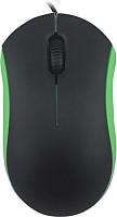 Мышь Ritmix ROM-111 (черный/зеленый) -