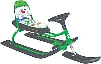 Снегокат детский Барс Comfort Снеговик (зеленый) -