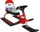 Снегокат детский Барс Comfort Снеговик (красный) -