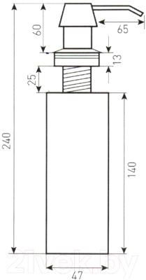 Дозатор встраиваемый в мойку Zigmund & Shtain ZS A001 (осенняя трава)