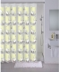 Текстильная шторка для ванной Milardo 528V180M11 -