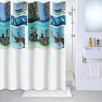 Текстильная шторка для ванной Milardo 534V180M11 -