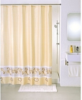 Текстильная шторка для ванной Milardo SCMI 013P -