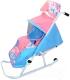 Санки-коляска Тяни-Толкай Комфорт Люкс Зимняя сказка (розовый) -