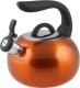 Чайник со свистком Perfecto Linea Focus 52-027014 (оранжевый металлик) -