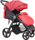 Детская прогулочная коляска Coletto Joggy (красный/черный) -
