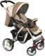 Детская прогулочная коляска Adamex Monza (коричневый) -