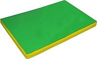 Гимнастический мат NoBrand 2x1x0.1м (зеленый/желтый) -