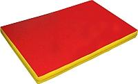 Гимнастический мат NoBrand 2x1x0.1м (красный/желтый) -