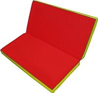 Гимнастический мат NoBrand Складной 1x1x0.1м (красный/желтый) -