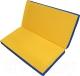 Гимнастический мат NoBrand Складной 1x1x0.1м (желтый/синий) -