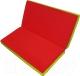 Гимнастический мат NoBrand Складной 1x1x0.08м (красный/желтый) -