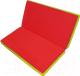 Гимнастический мат NoBrand Складной 1x1x0.05м (красный/желтый) -