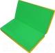 Гимнастический мат NoBrand Складной 1x1x0.05м (зеленый/желтый) -