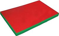 Гимнастический мат NoBrand 2x1x0.1м (красный/зеленый) -