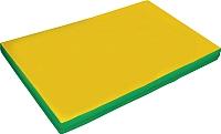 Гимнастический мат NoBrand 2x1x0.1м (желтый/зеленый) -