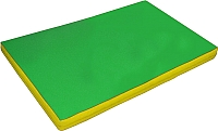 Гимнастический мат NoBrand 2x1x0.08м (зеленый/желтый) -