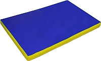 Гимнастический мат NoBrand 2x1x0.05м (синий/желтый) -