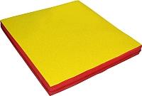 Гимнастический мат NoBrand 1x1x0.05м (желтый/красный) -